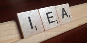 scrabble letters IEA