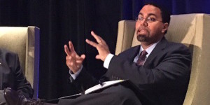John King, Secretary of Education, Sitting on a Chair Gesturing his Hands