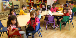 PreK students learning