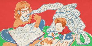 Dyslexic children illustration
