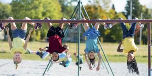 kids playing in school yard