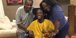disabled student with parents