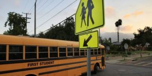 schoolbus for HS grad rates improving