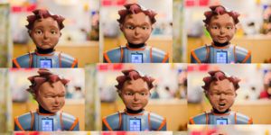 Milo the Humanoid (robot) helping autistic children with facial and social interactions