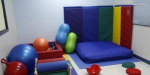 sensory room with mats