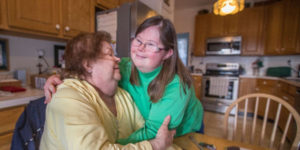mom with daughter with disability