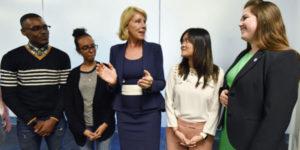 US DOE Secretary DeVos with a group of disability advocates
