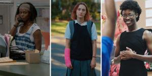 three movie screen previews