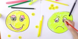 happy and sad face drawings